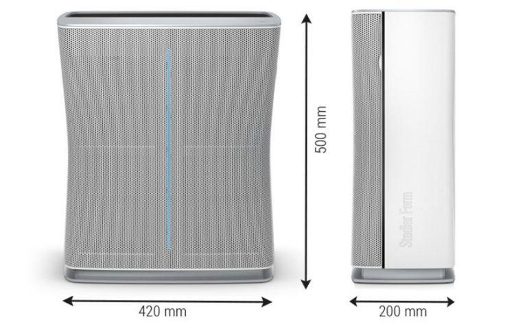 Очиститель воздуха Stadler Form Roger габаритные размеры