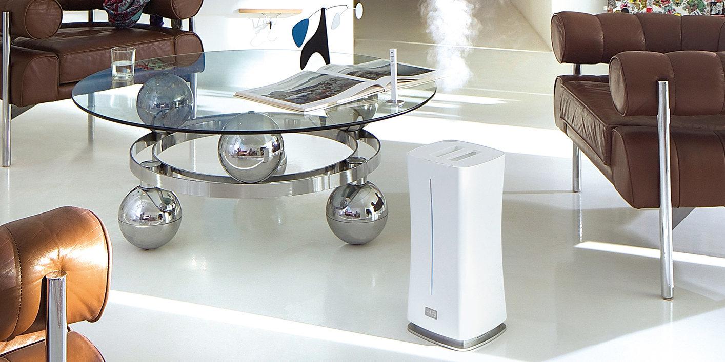 Увлажнитель воздуха ультразвуковой Stadler Form Eva white lifestyle for site compressed