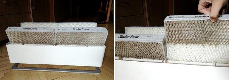 Фильтры для увлажнителя воздуха Stadler Form серии Oskar после использования