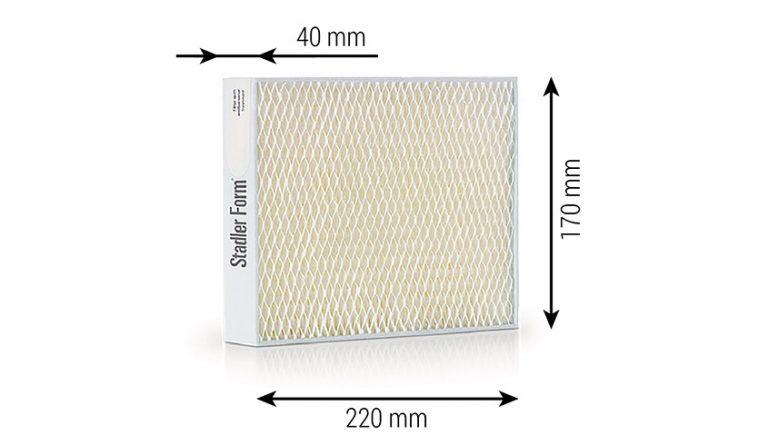 Фильтры для увлажнителя воздуха Stadler Form серии Oskar габаритные размеры