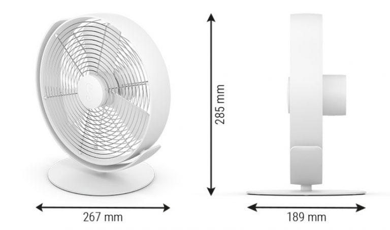 Вентилятор настольный Stadler Form Tin размеры